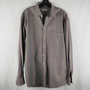 Ermenegildo Zegna Men's Dress Shirt Gray Bronze L